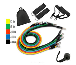 Go Pro™ Set 11PC Resistance Bands Set - For Ultimate Workout
