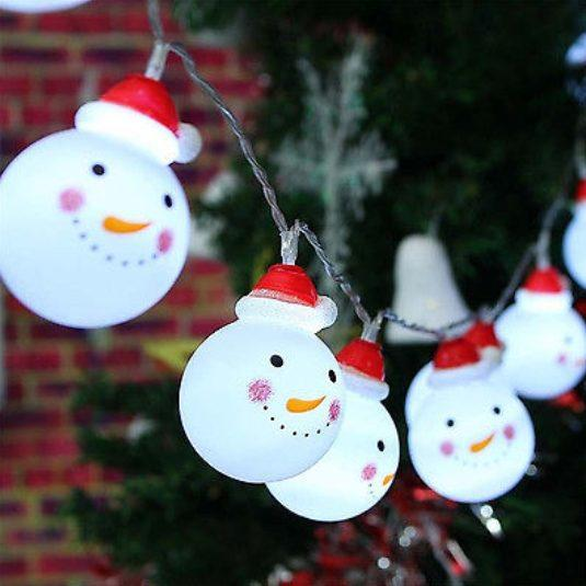 Christmas - Snowman String Lights