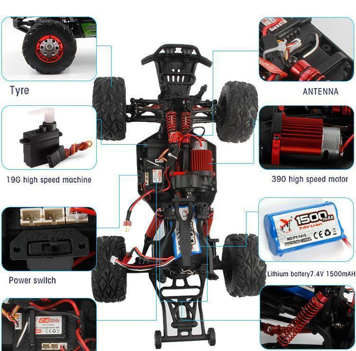 Gadgets - RC Rock Crawler (1:16) - 4WD 2.4GHz Off-Road Vehicle
