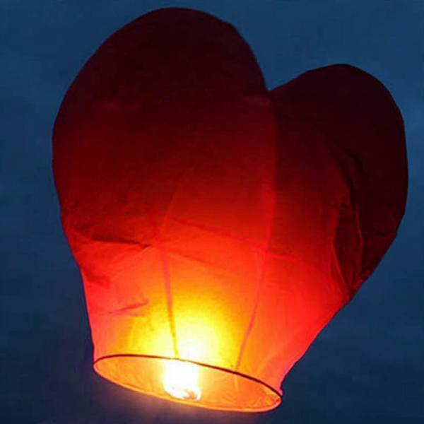 Home - Heart Shaped Red Light Chinese Lantern