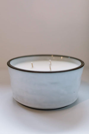 Winter Birch Three Wick Ceramic Candle