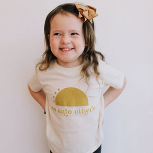 """Do Unto Others"" Toddler + Kids Tee"