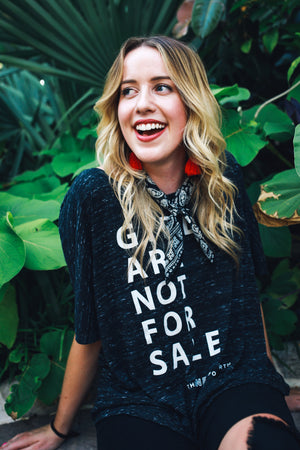 "Women's ""Girls Are Not For Sale"" Swing Tee"
