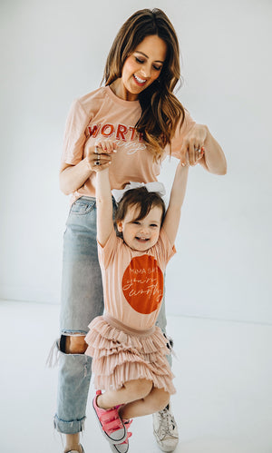 Worthy Always Peach Tee