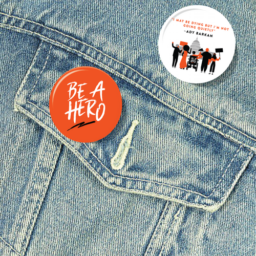 Be A Hero Button 2-Pack