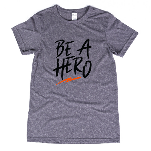 Be a Hero Logo Crew - Grey