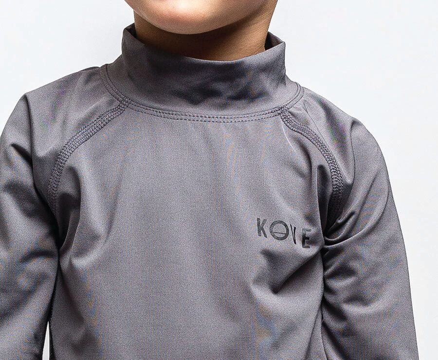 Mowgli Toddler Swim Shirt Charcoal