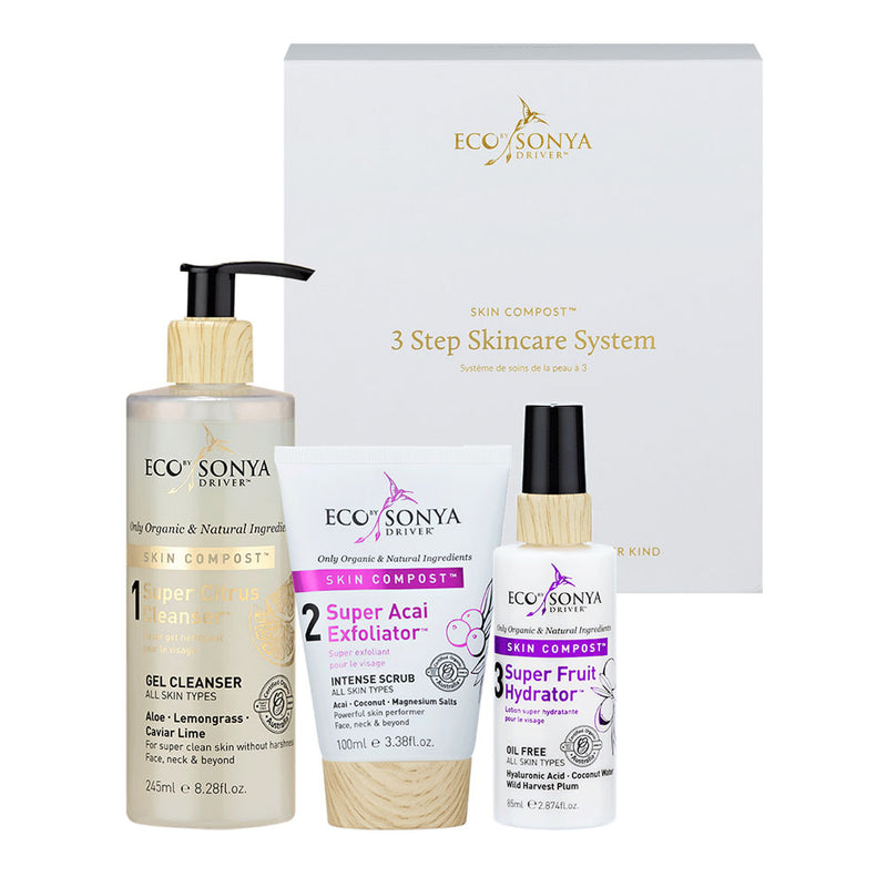 Eco Tan Eco by Sonya Driver 3 Step Skincare with Acai Exfoliator