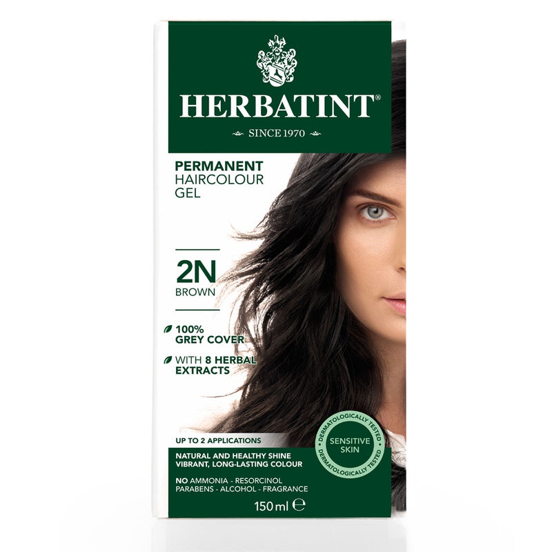 Herbatint Permanent Haircolour Gel 2N Brown