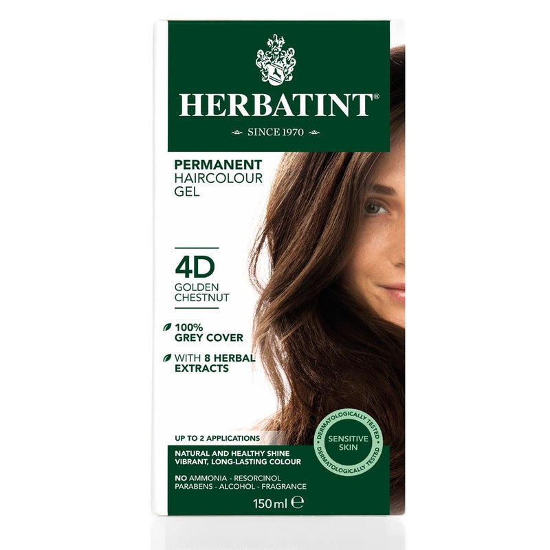 Herbatint Permanent Haircolour Gel 4D Golden Chestnut