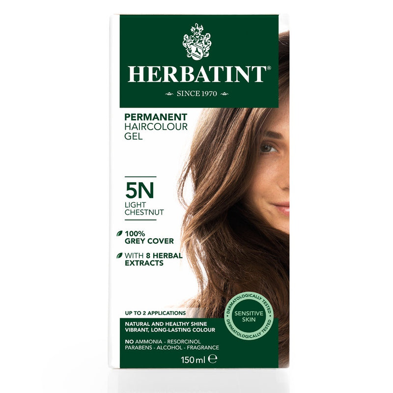 Herbatint Permanent Haircolour Gel 5N Light Chestnut