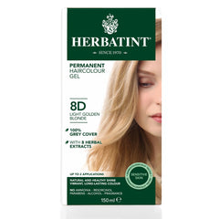 Herbatint Permanent Haircolour Gel 8D Light Golden Blonde