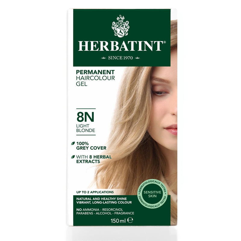 Herbatint Permanent Haircolour Gel 8N Light Blonde