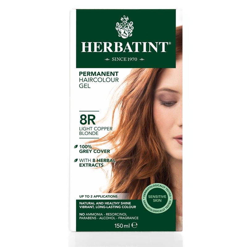 Herbatint Permanent Haircolour Gel 8R Light Copper Blonde