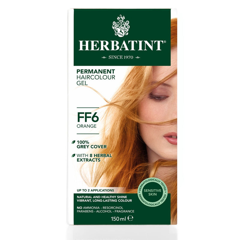 Herbatint Permanent Haircolour Gel FF6 Orange
