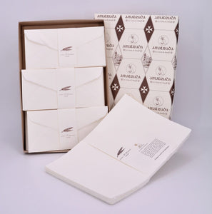"F01 - Compose your box set (A4 sheet ""Amalfi"" model 120gsm) - 100 sheets + 100 envelopes"