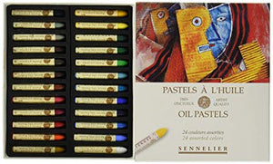 Oil pastels Cardboard set 24 Oil pastels Empty box