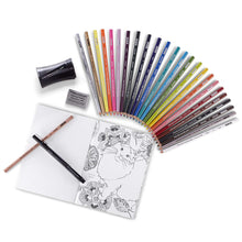 Load image into Gallery viewer, Prismacolor Premier Pencils Adult Mandala Coloring Kit with Blender, Art Marker, Eraser, Sharpener & Booklet, 29 Piece