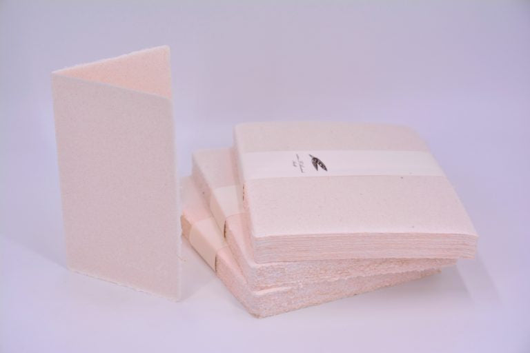 FOLDED CARD 11.5X17.5 (200GSM) PINK WITH STRAW WIRES