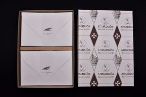 "Compose your box set (A5+ ""Amatruda"" model 120gsm) 100 sheets + 100 envelopes"