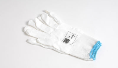 Thin White Cotton Gloves For Application Of Full Wraps
