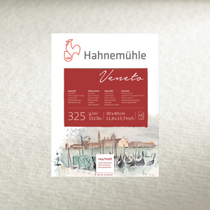 WATERCOLOUR BLOCK  VENETO 325GSM  - 12 SHEETS