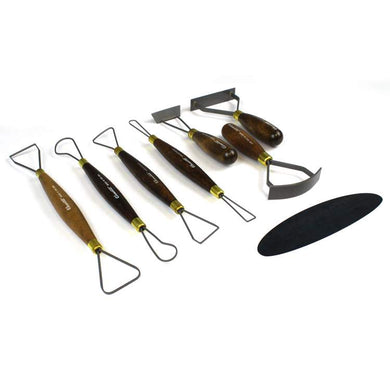 SCULPTING CLAY HARD ID STARTER TOOL SET (8PIECES)