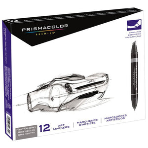 PRISMA COLOR MARKER SET/12 NEUTRAL  GREY