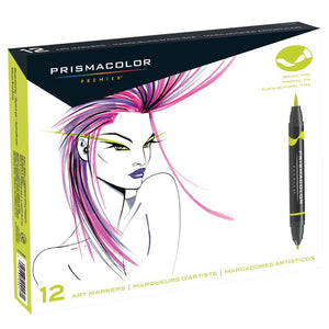 Prismacolor Brush Marker Set/12 Colors