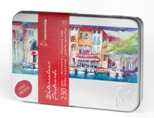 Load image into Gallery viewer, Watercolour Postcards in Metal Box 230 gsm