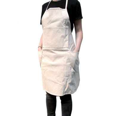 PAINTING APRON EMBROIDED WITH LOGO - BLACK
