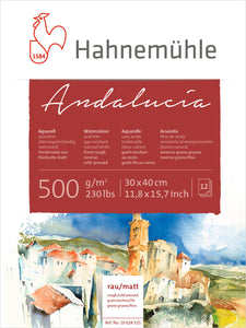 WATERCOLOUR PAPER  ANDALUCIA  ROUGH FRONT MATT REVERSE 500GSM