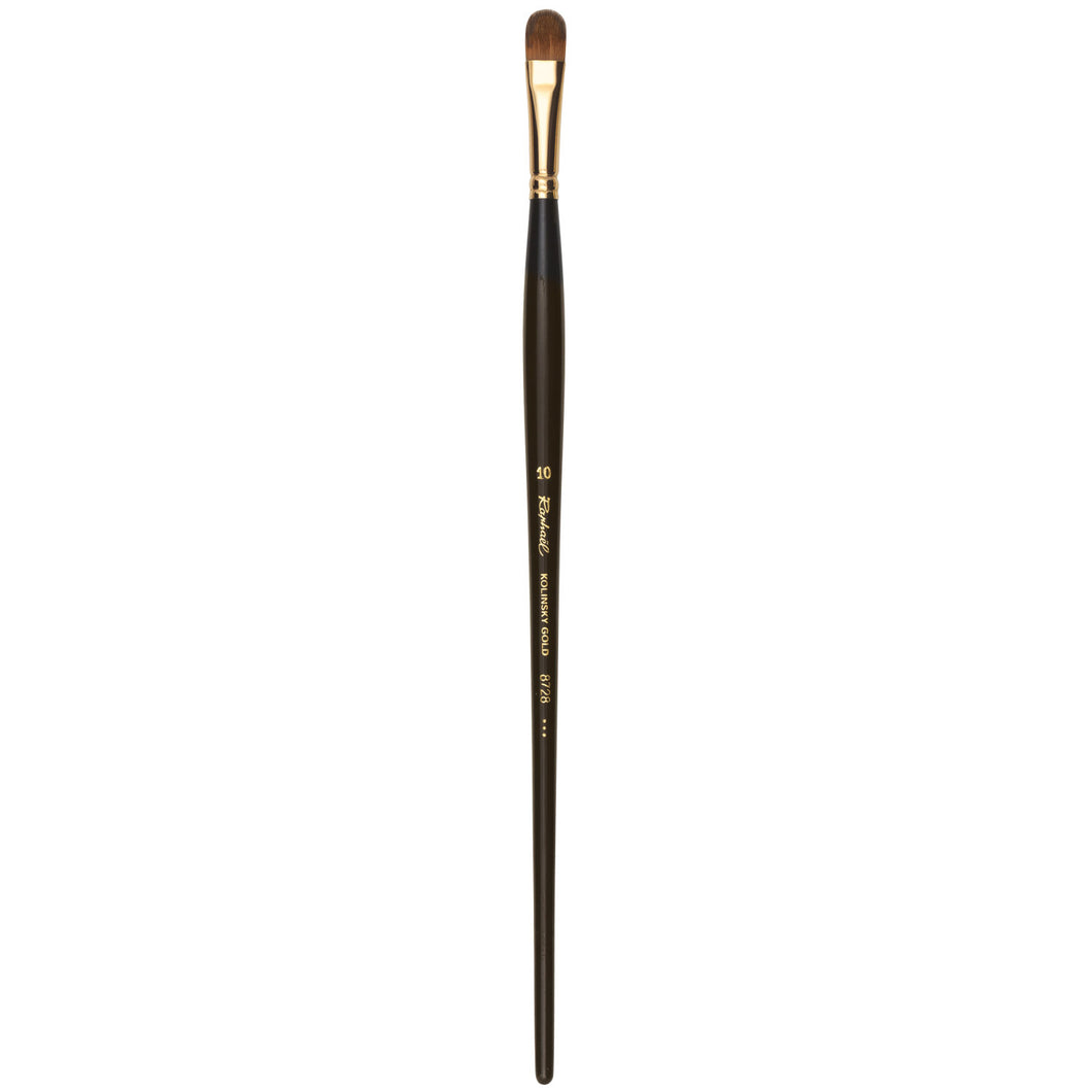 KOLINSKY GOLD THICK FILBERT OIL BRUSH - oil & acrylic