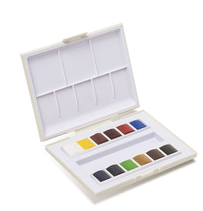 TRAVEL BOX *LA PETITE AQUARELLE* CONTAINING 12 HALF PANS