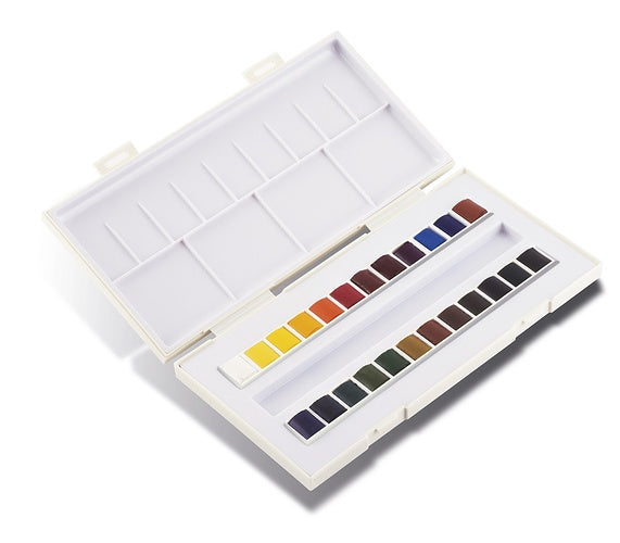 TRAVEL BOX *LA PETITE AQUARELLE* CONTAINING 24 HALF PANS