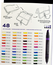 Load image into Gallery viewer, Prismacolor Marker Set/48 With Case