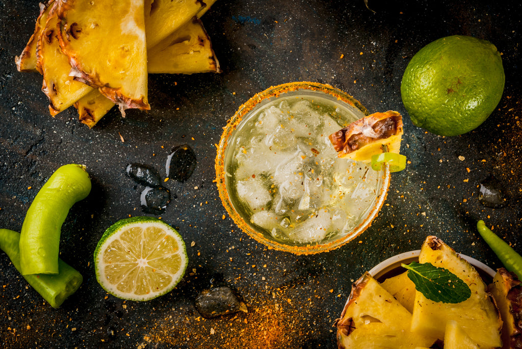 Charred Pineapple and Jalapeño Margaritas