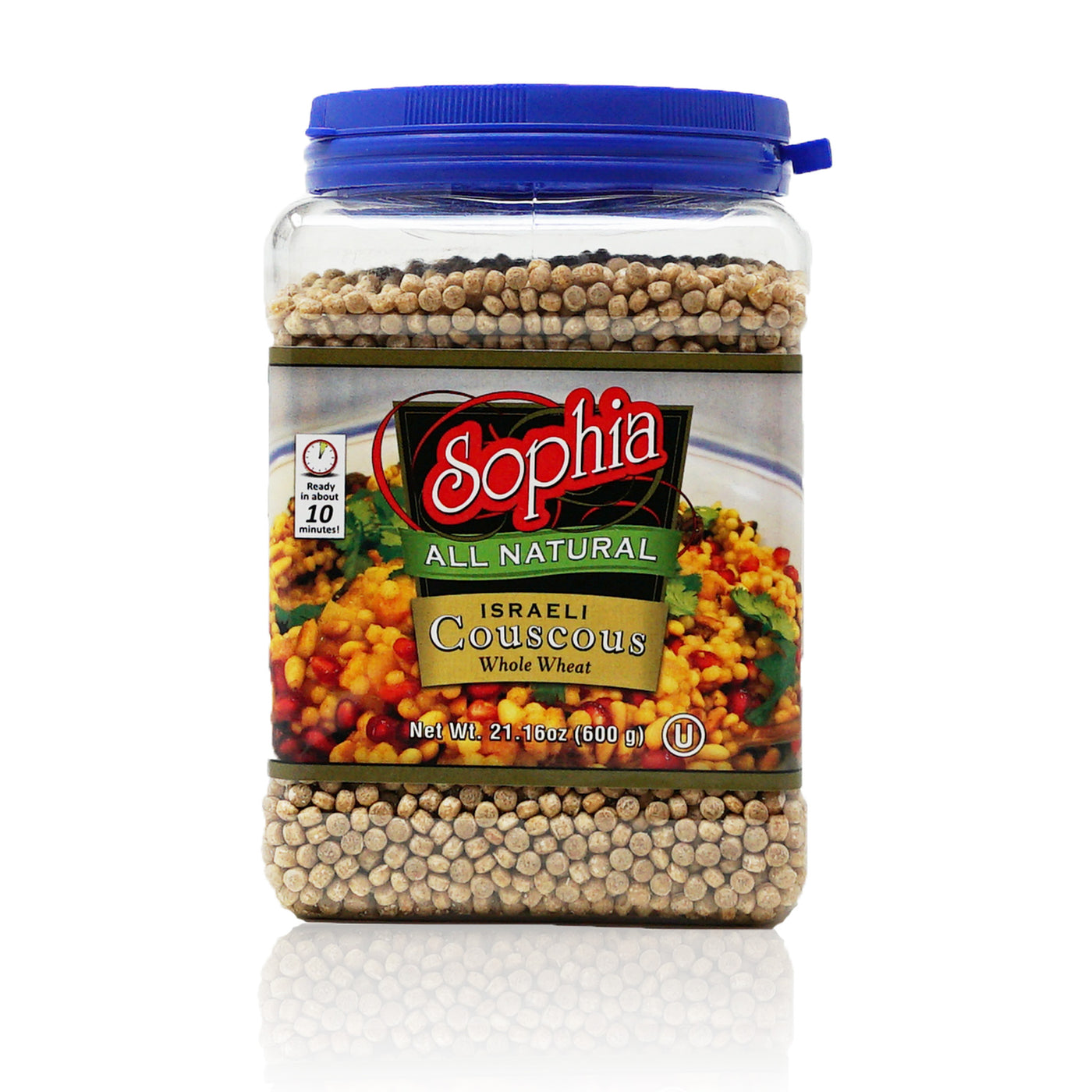 Sophia Couscous - Israeli Toasted Pearl Couscous Whole Wheat