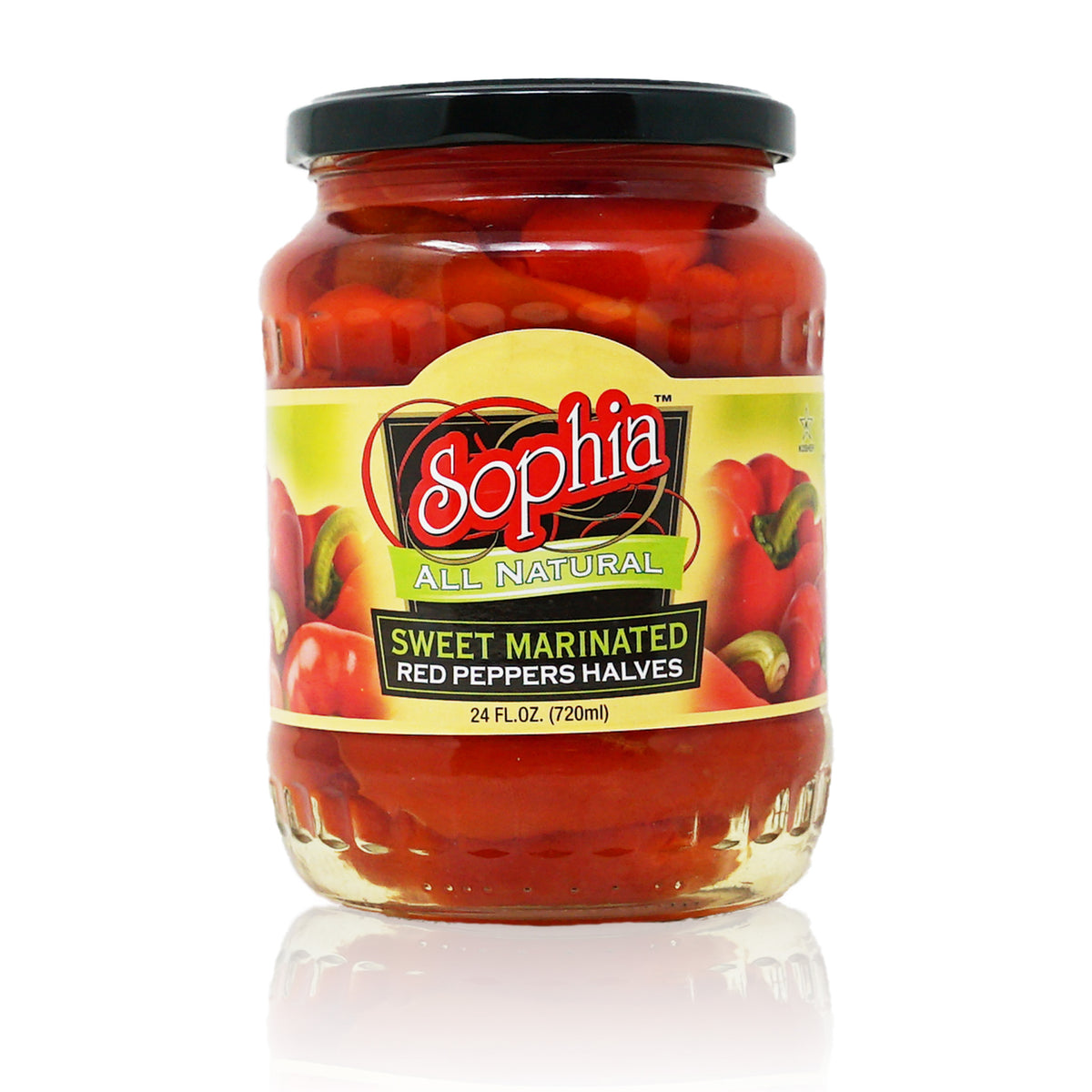 Sophia Peppers - Red Marinated Halves 24oz