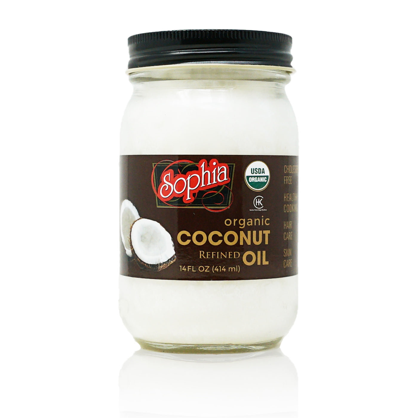 Sophia Oil - Coconut Oil, Organic & Refined