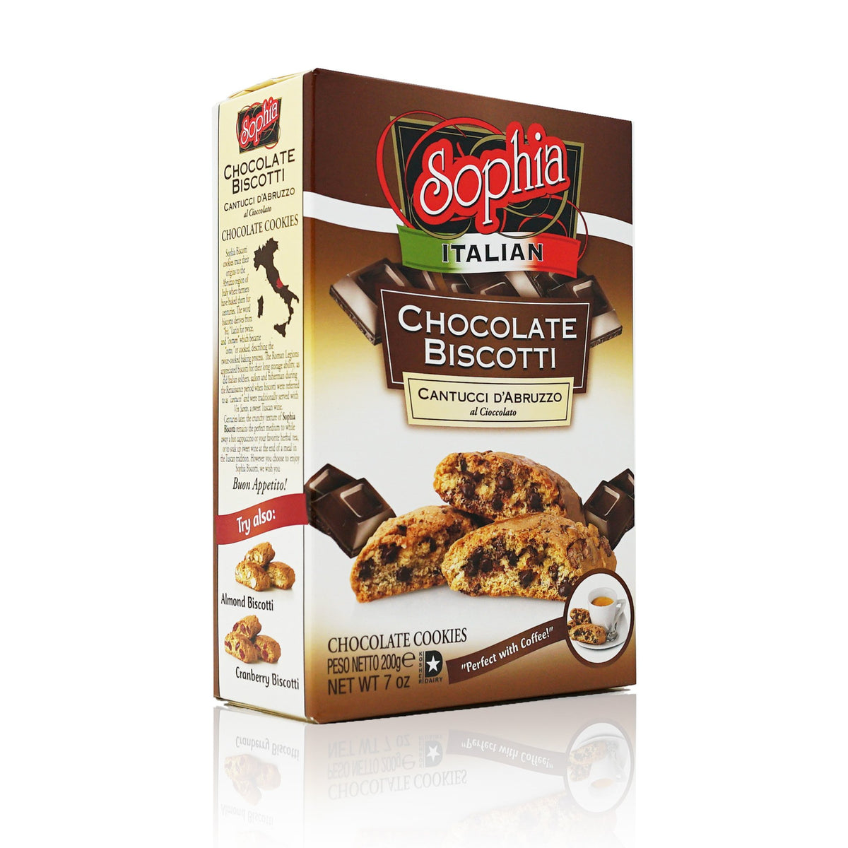 Sophia Biscotti-Chocolate Cantuccini 7oz