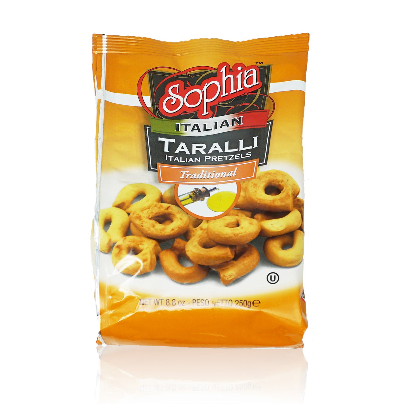 Sophia Taralli Italian Pretzels - Traditional Extra Virgin 8.8oz