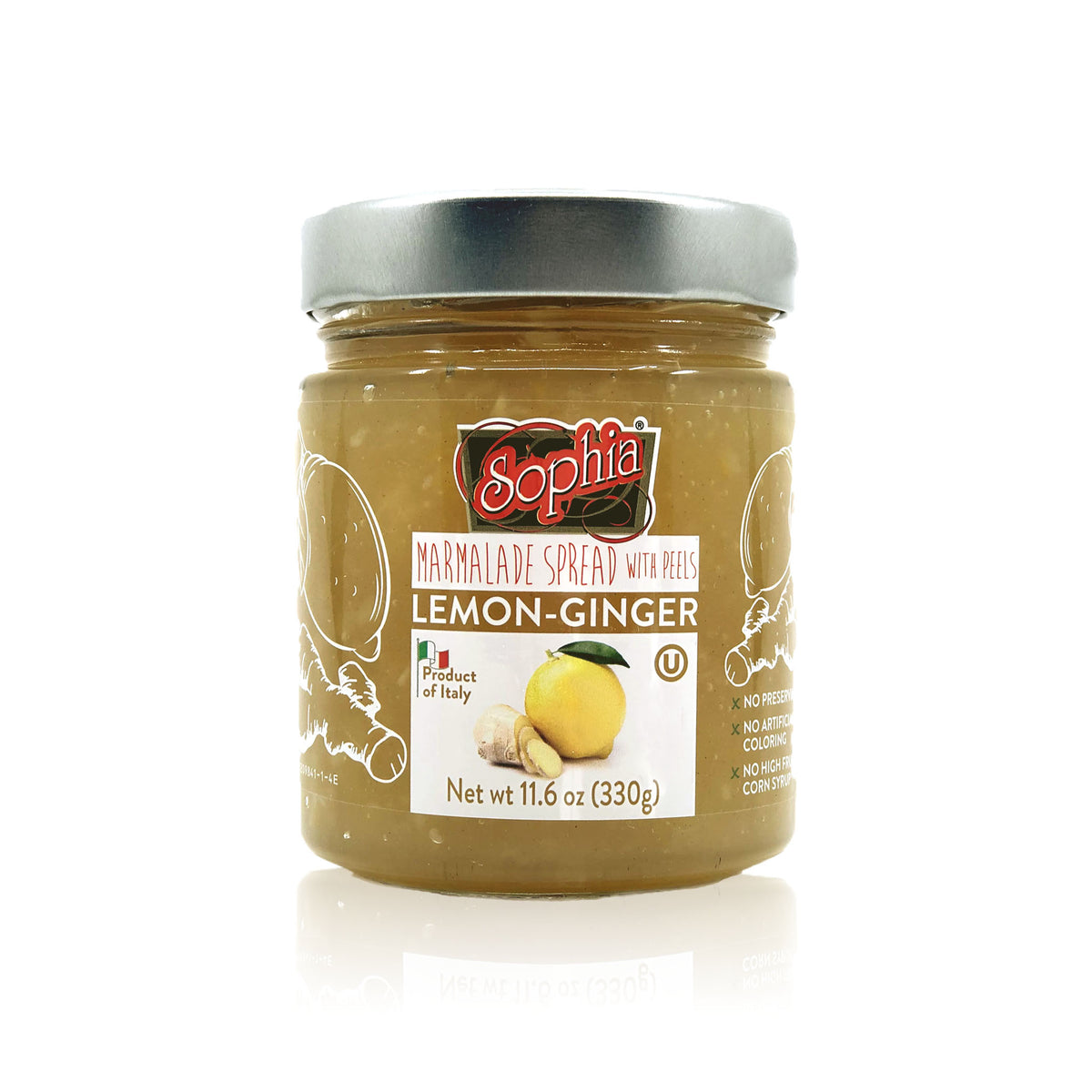 Sophia Fruit Spread - Lemon Ginger Preserves 11.6oz