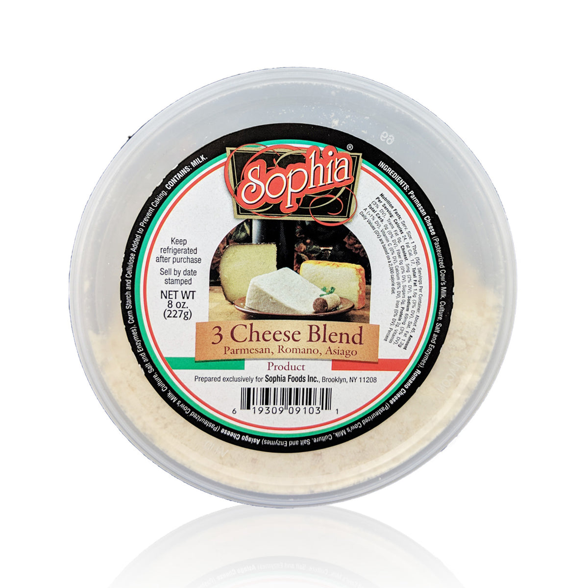 Sophia Cheese Deli Cup-Three Cheese Blend 8oz