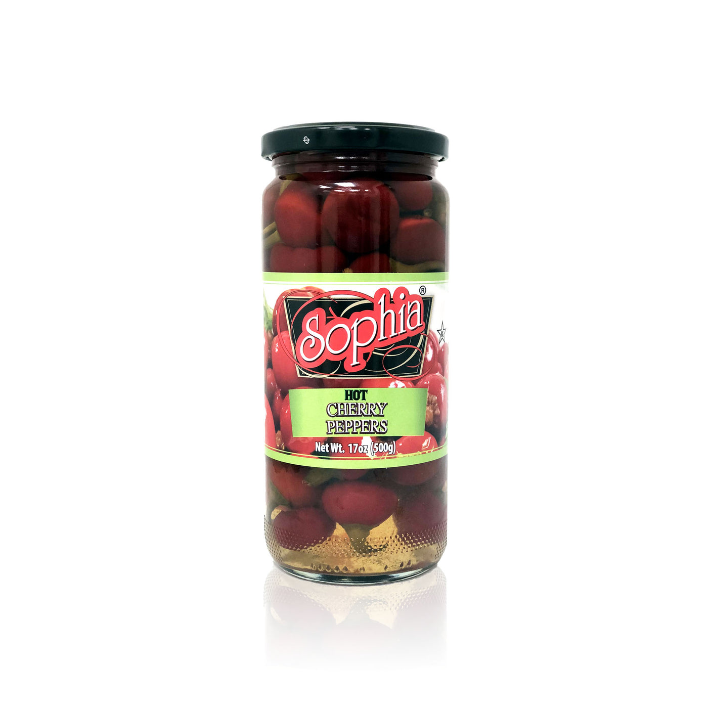 Sophia Peppers - Hot Cherry Peppers 17oz