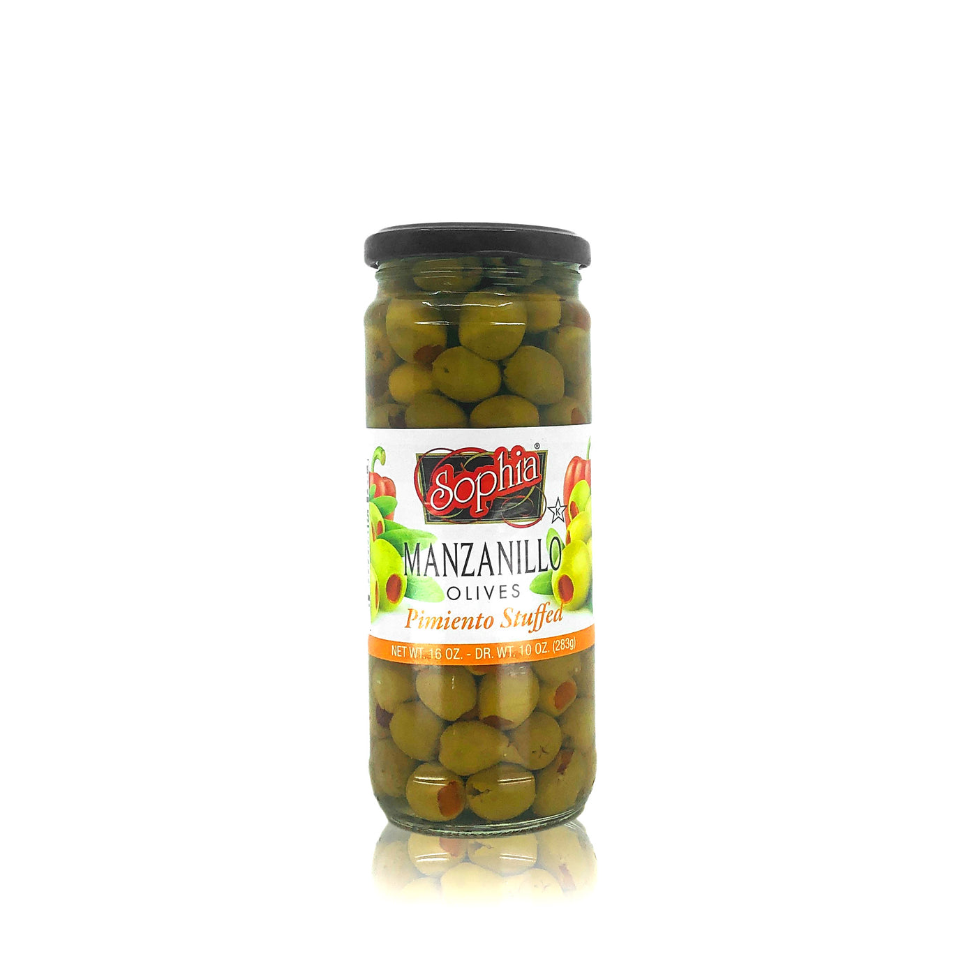 Sophia Olives - Spanish Manzanillo, Stuffed 16oz