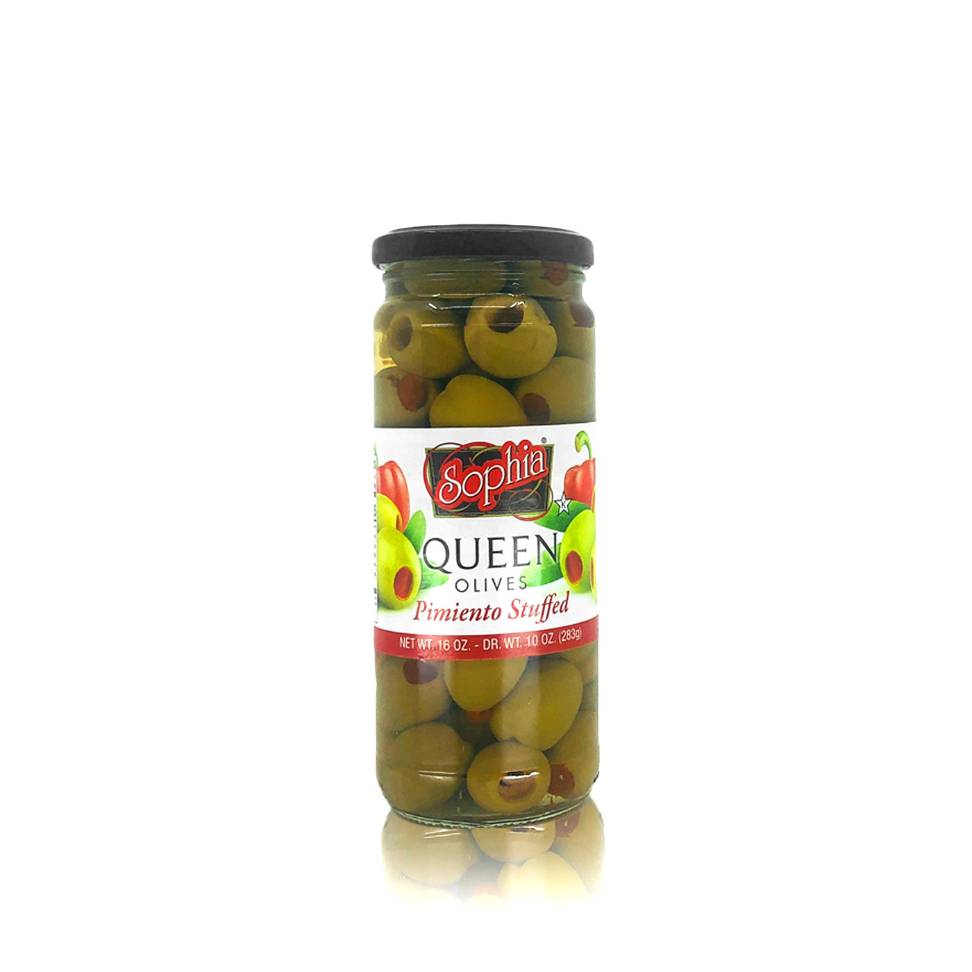 Sophia Olives - Spanish Green Queen Stuffed 16oz