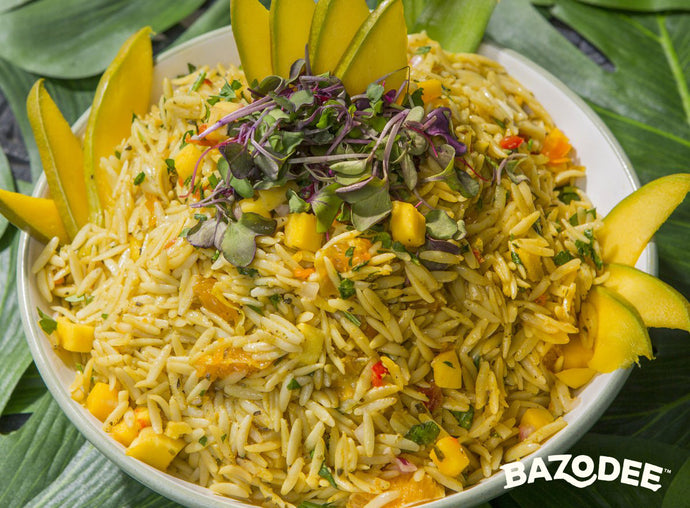 Orzo with Mango