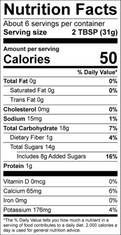 Tasty Tamarind Nutrition Facts