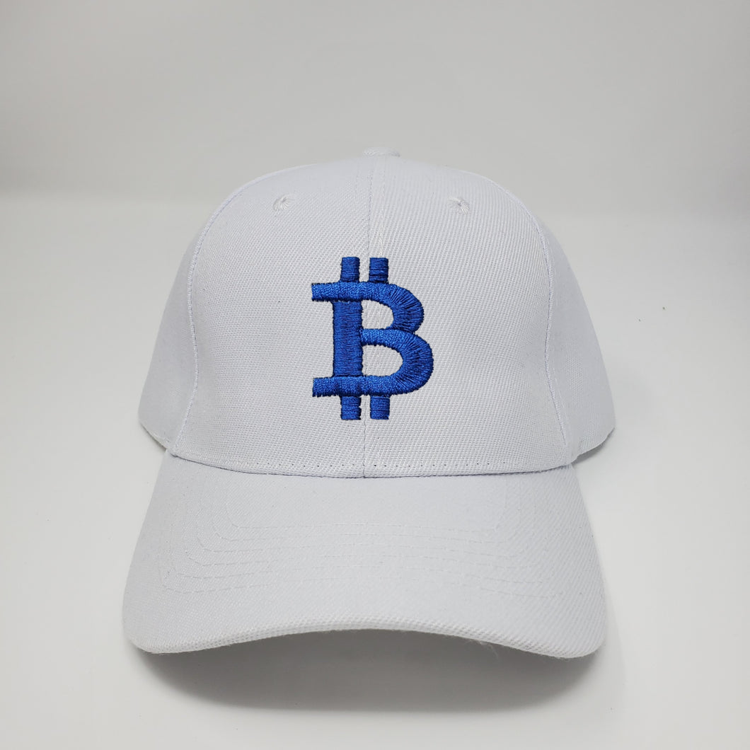 Bitcoin Logo White Baseball Hat
